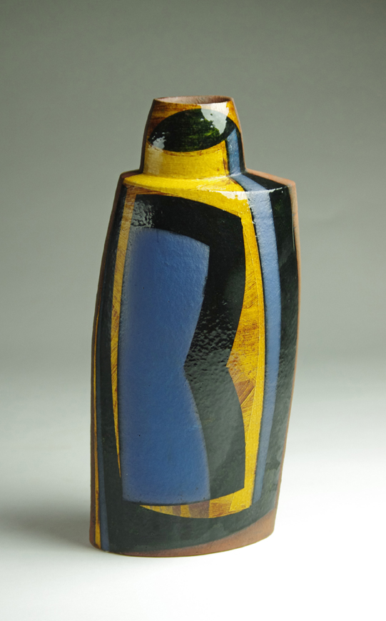 Oval bottle h37cm dark honey glaze 2017 web res